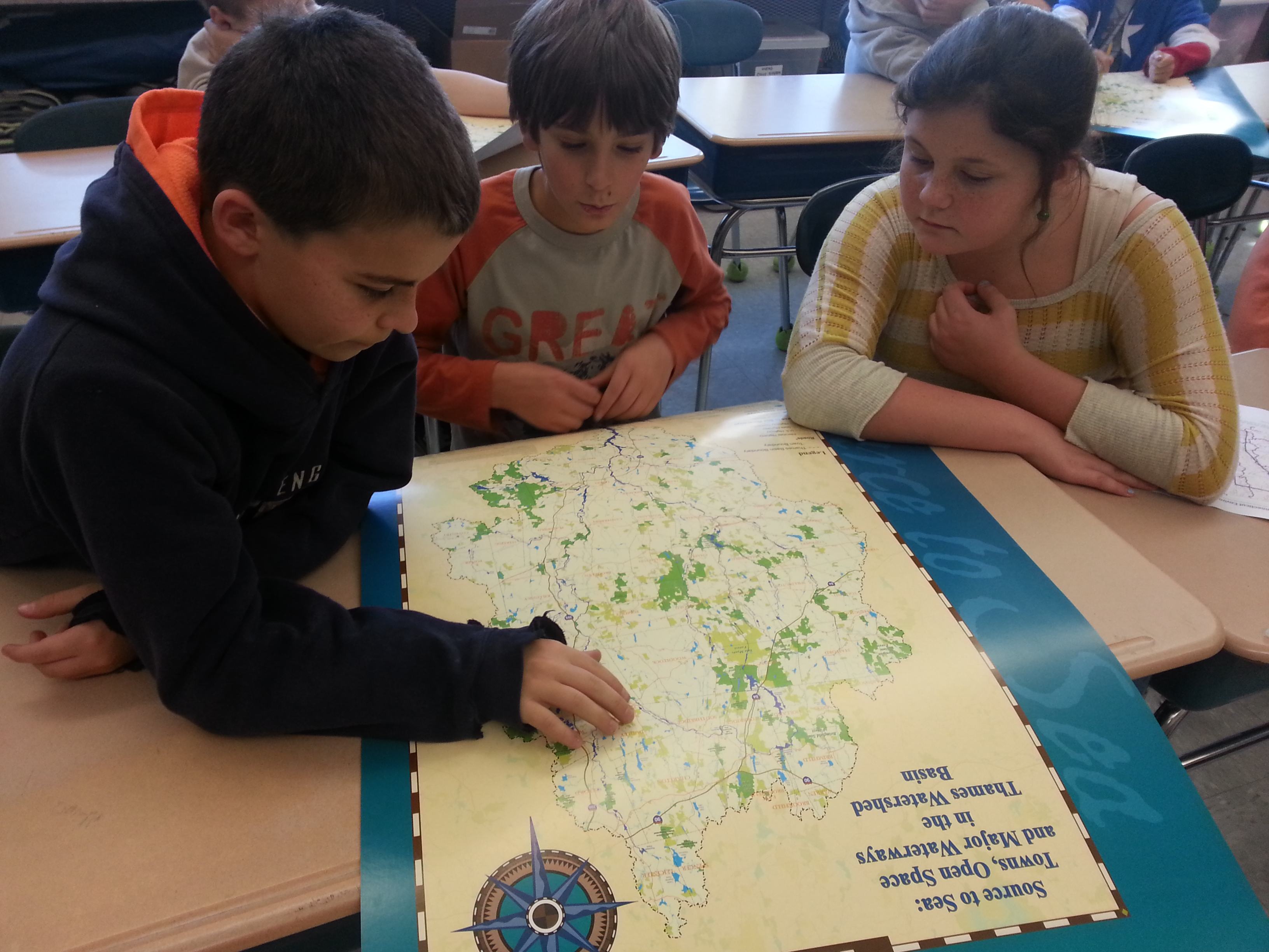 Eastford students explore their watershed.