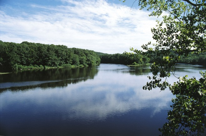 Confluence of the Quinebaug and Shetucket Rivers