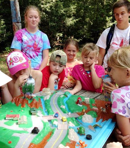 Kids join in Walktober activities