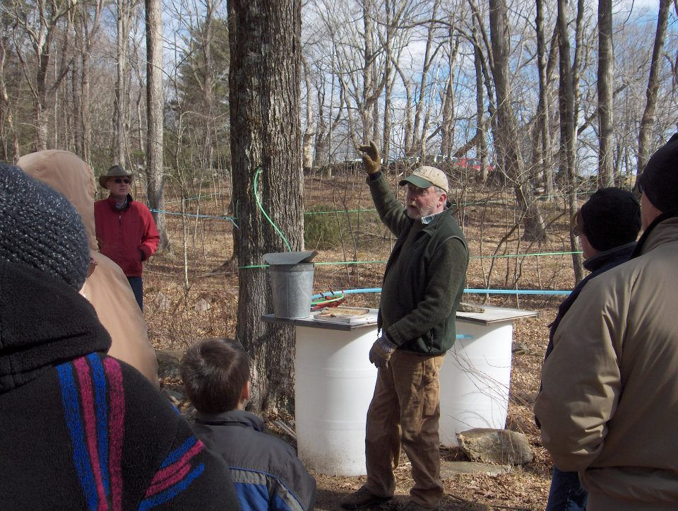 Steve Broderick explains the maple sugaring process.