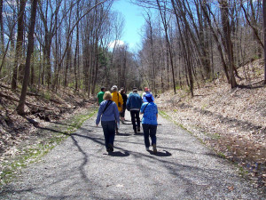 spring outdoors-april airline trail  hike