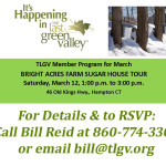 TLGV March Member Program – Bright Acres Farm Sugar House Tour