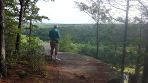 4)	Looking out over Ross' Cliff vistas of the green in The Last Green Valley. Photo by J. Anderson.
