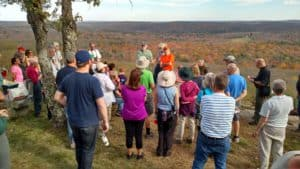 2017 Walktober at Steerage Rock with Larry Lowenthal, Mike Bartlett and Bill Reid.