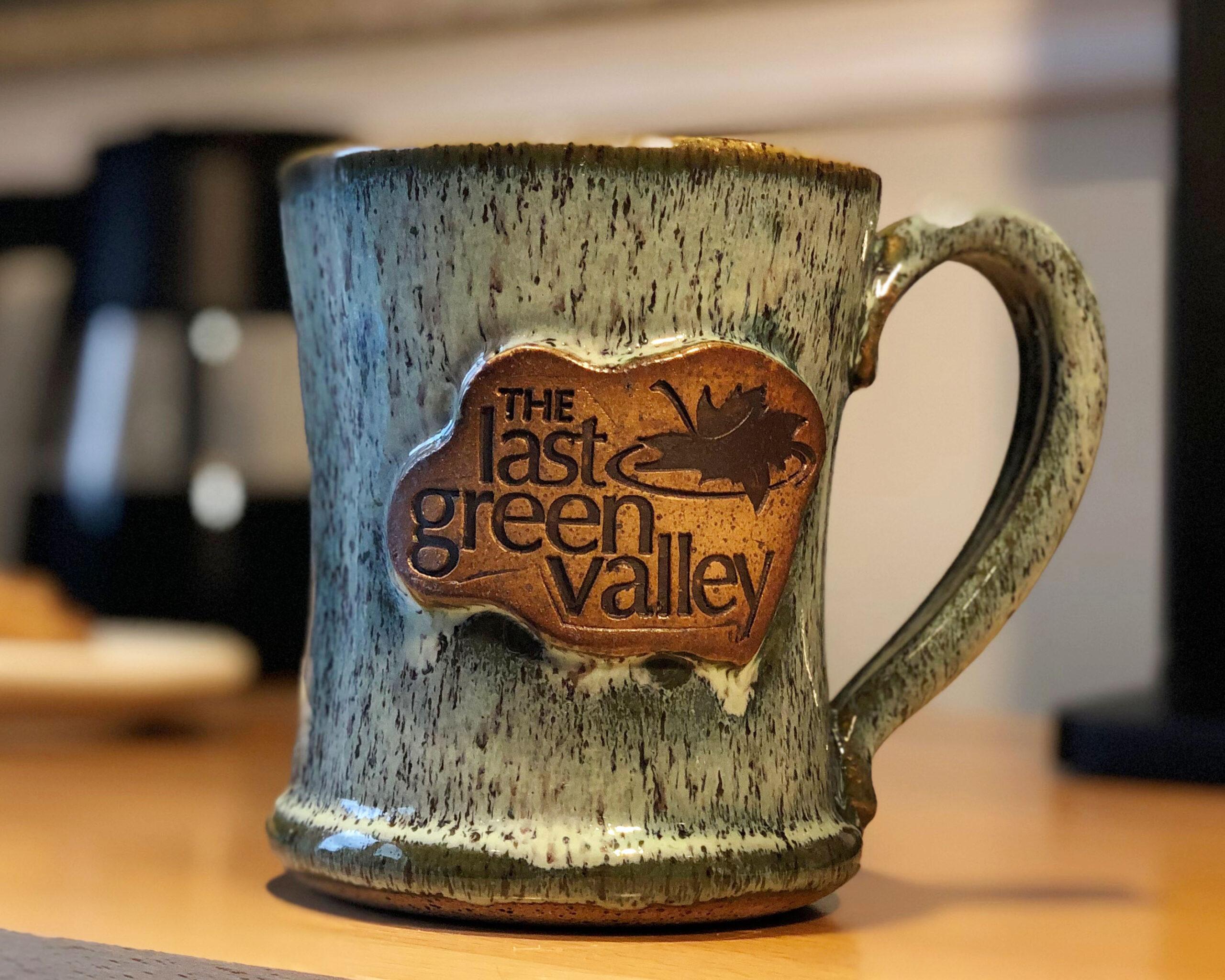 green pottery tlgv mug