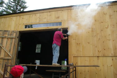 BT barn--setting pintles for barn door