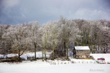 E Linkkila-buccolic-farm in April snow-2016-Hampton